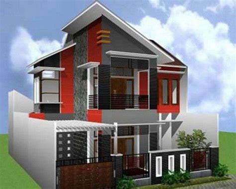 desain atap rumah 2 lantai bentuk rumah 2 lantai atap miring moderen idenahrumah com
