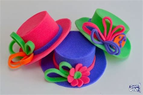 sombreros divertidos de mujer como hacerlos de goma eva moldes gorros de goma espuma para fiestas imagui