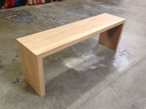 white oak bench custom made white oak waterfall bench by house of hardwood