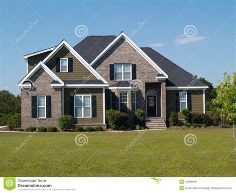 two story two story brick and vinyl home stock photo image 10206650