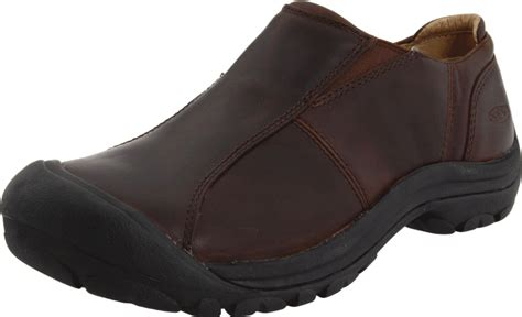 keen womens shelby slip on casual shoe in brown brown