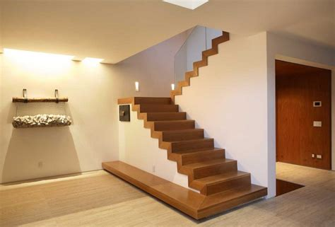desain tangga modern rumah minimalis    lantai  rumahliacom
