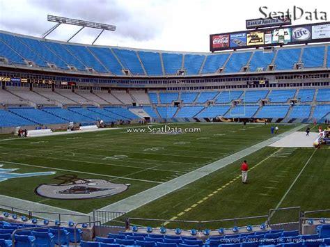 bank of america stadium seat view bank of america stadium section 118 rateyourseats