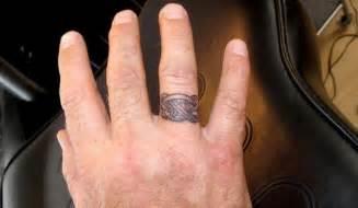 wedding ring tattoos for men engagement ring unique