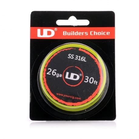 Sale Ud Ss 316l 26 Ga 30 Youde Stainless Steel 26 Awg authentic ud 316 stainless steel 26 awg 11 3 ohm resistance wire