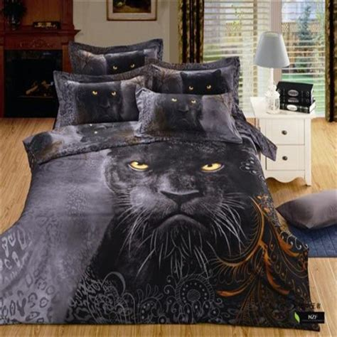 aliexpress com buy 3d animal print black panther bedding