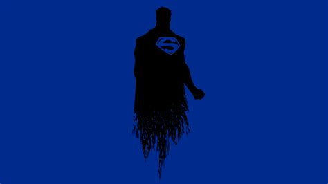 wallpaper superman minimal blue   minimal