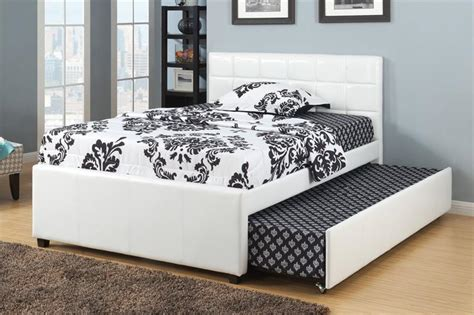 twin full bed twin full bed with trundle f9216 poundex