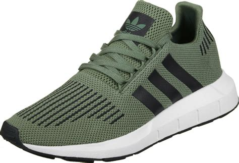 adidas run shoes green black white