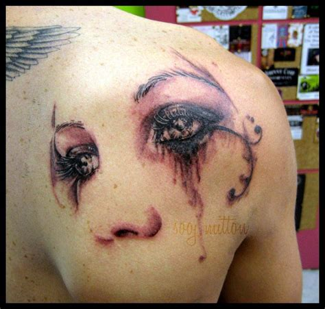 pretty eyes tattoo by sooj on deviantart