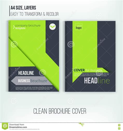 brochure template layout cover design annual report clean brochure design annual report cover template