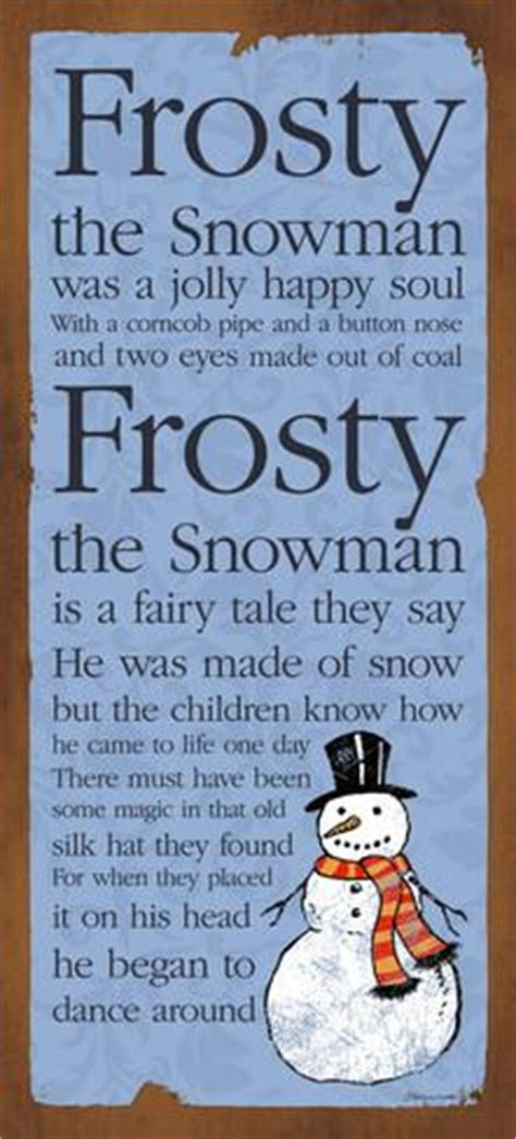 printable lyrics to frosty the snowman frosty poster by stephanie marrott at allposters com au