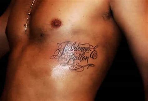 rob kardashian and adrienne bailon tattoos adrienne bailon removal