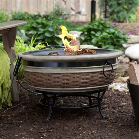 wicker magnesia fire pit fire pits pinterest