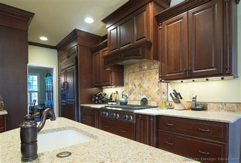 kitchen cabinets design ideas photos pictures of kitchens traditional dark wood cherry