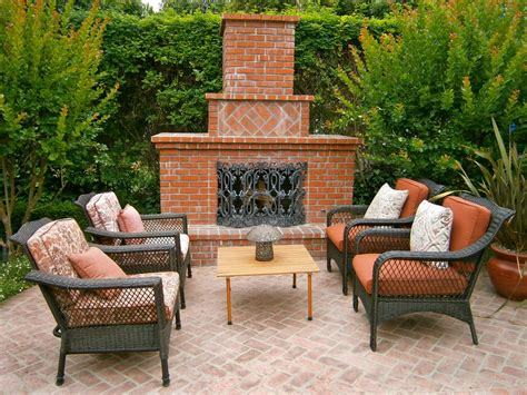 outdoor brick fireplaces hgtv