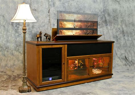 tv cabinet that raises the tv television lifts remote controlled pop up tv