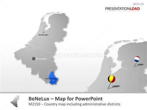netherlands map powerpoint free powerpoint map benelux belgium netherlands luxembourg