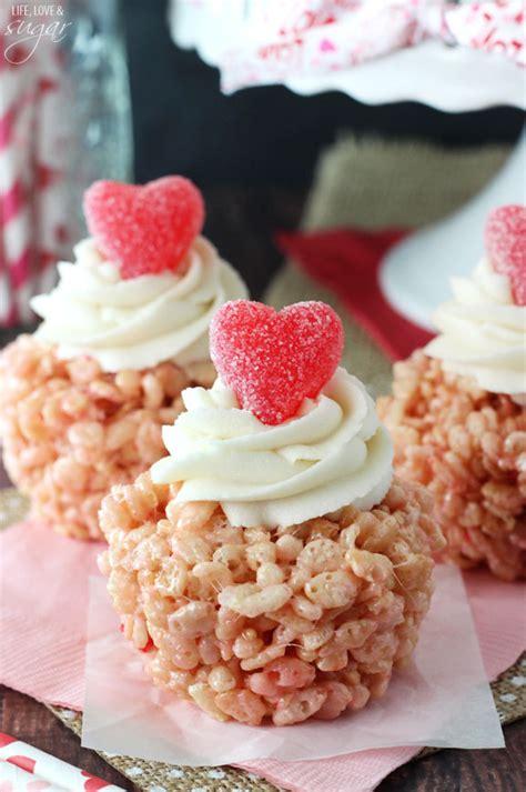 valentines day rice krispie treats valentines day rice krispie treat cupcakes and