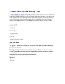 Authorization Letter Lawyer Sample Enclose Power Of Attorney Letter