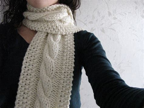 how to knit a muffler for beginners cable knit scarf pattern a knitting