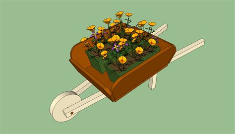 How To Build A Wheelbarrow Planter by Wheelbarrow Planter Plans Howtospecialist How To Build