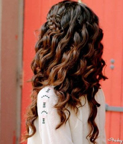 grecian hairstyles loose curls and high braid