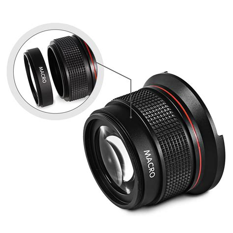 Lensa Wide Lens lensa kamera hd 0 35x fish eye wide lens 52mm black