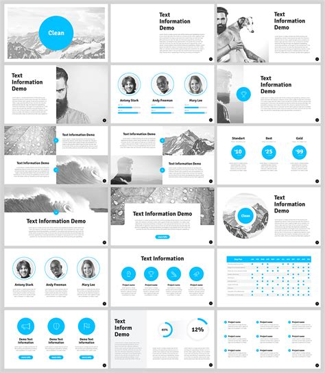 Free Clean Powerpoint Template For Designers With 18 Slides Websites Pinterest Template Best Powerpoint Templates For Lectures