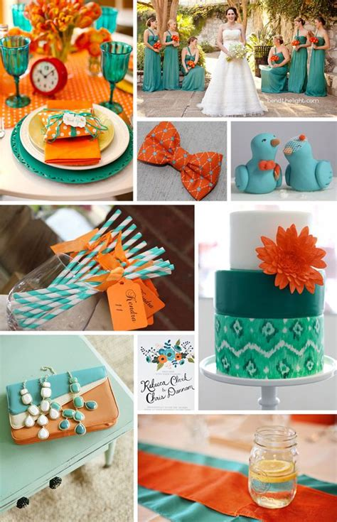 92 best images about teal orange wedding on