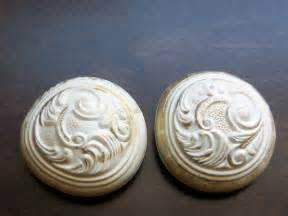 2 vintage decorative door knob handle covers by