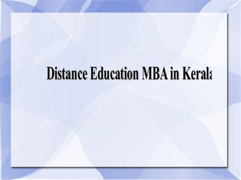 Mba In Corporate Communication Distance Learning by Distance Education Mba In Kerala Through Sikkim Manipal