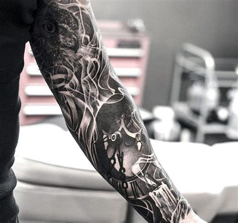 tattoos for men sleeves black and white 100 interesting tattoos for original ink design ideas