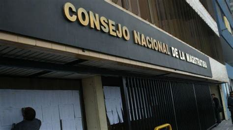 consejo nacional de la magistratura cnm cnmgobpe presidente admiti 243 desconfiar de cnm