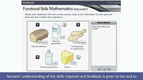 functional skills mathematics entry level 3 demonstration