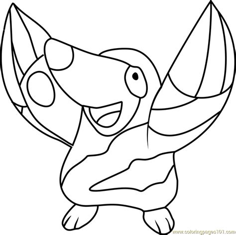pokemon coloring pages gigalith 91 woobat pokemon coloring pages pokemon gigalith