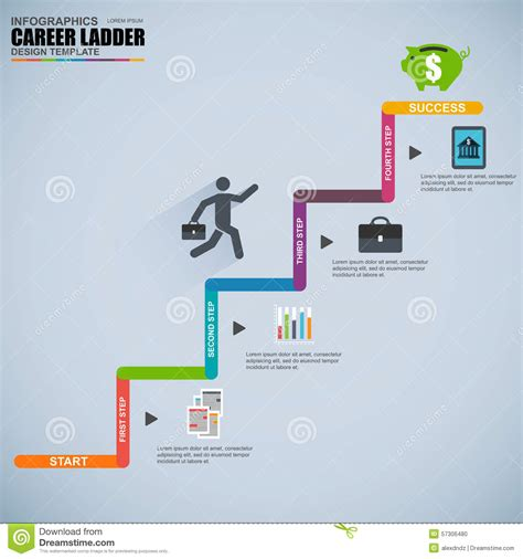 Ladder Of Success Clipart Career Infographic Template
