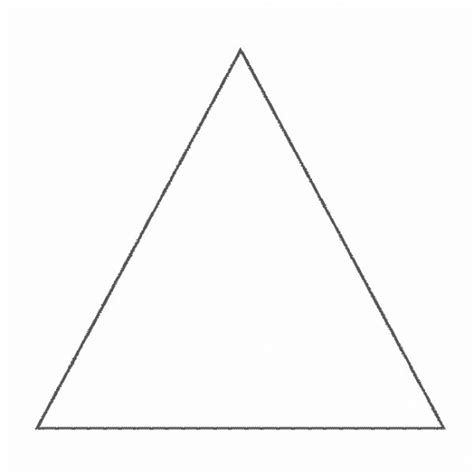 Simple Shapes Triangle 1 Coloring Pages Triangle Coloring Pages