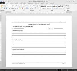 Customer Communication Plan As9100 Risk Management Plan Template