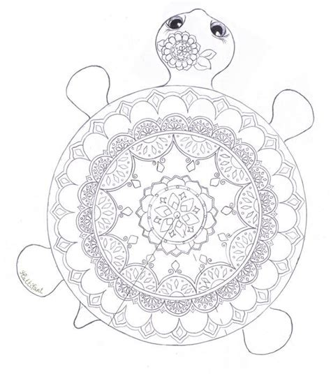 marvelous sea turtles coloring book for adults stress relief coloring book for grown ups books mandala turtle coloring page coloring pages
