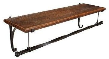 Shelf With Rod For Hanging Clothes by Shelf With Hanging Rod Mount Wood Shelf With Metal