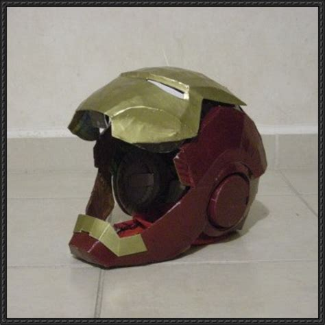 Ironman Helmet Papercraft - papercraftsquare new paper craft high detailed iron