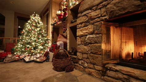 holiday lights and movie sites christmas living room time lapse pan stock video footage