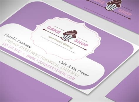 Free Printable Bakery Business Card Templates by 404 Not Found