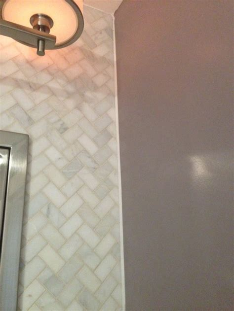 Transition between tile and painted wall
