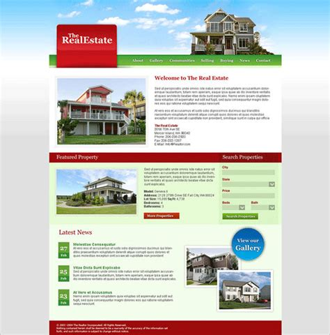 real state template 18 real estate psd themes templates free premium