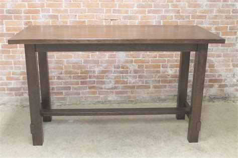 Counter Height Farmhouse Table by Custom Trestle Table Images Reclaimed Wood Dining Table
