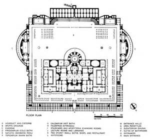 baths of caracalla floor plan termas de caracalla roma italia 212 217 arquitectura pinterest architecture plan and