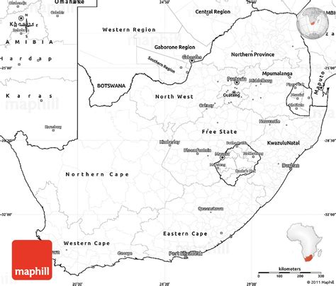 Outline Map Of South Africa With Major Cities by Blank Simple Map Of South Africa