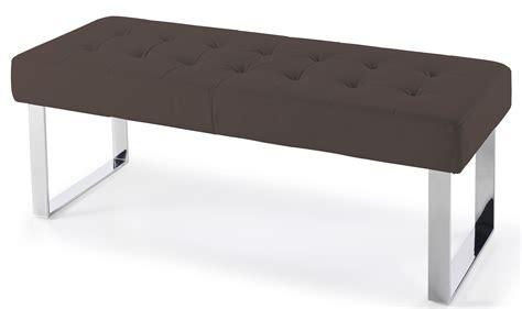 banc en cuir banc de lit effet cuir marron dezina lestendances fr